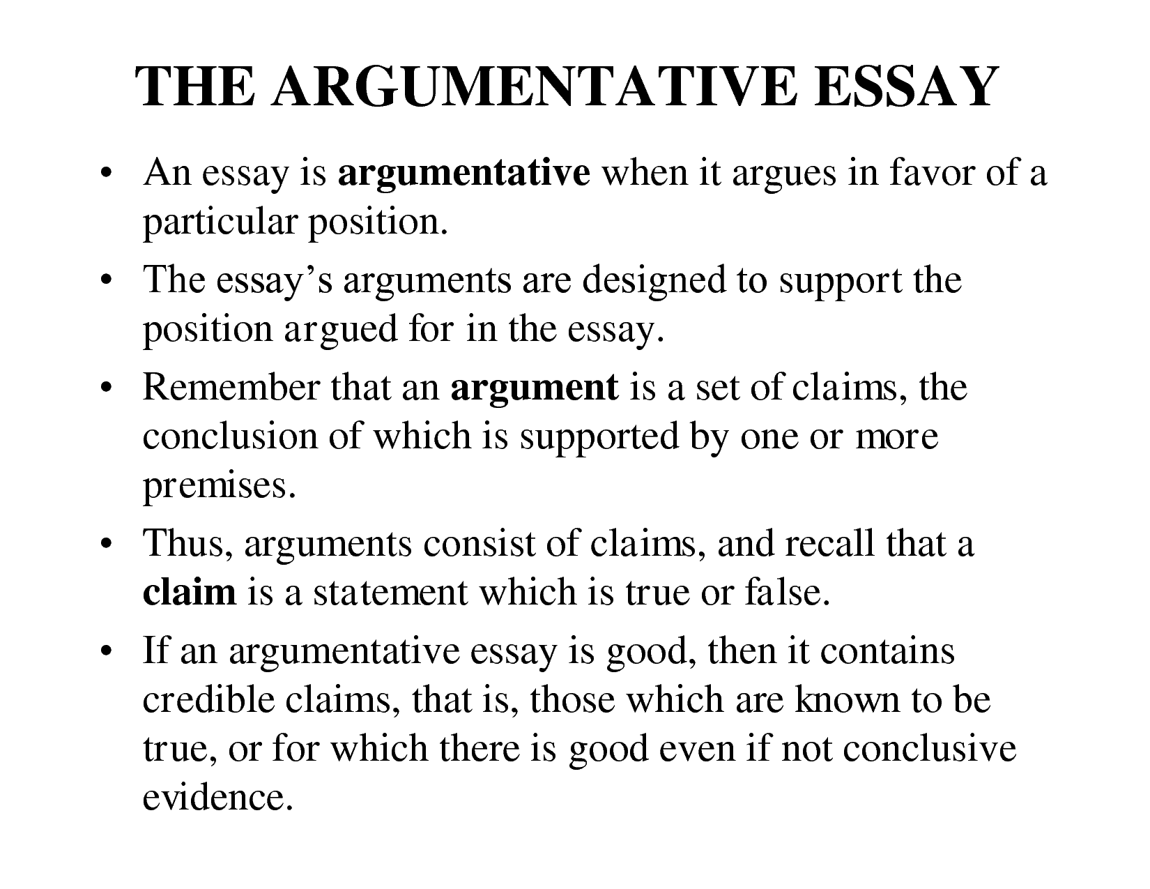 writing good argumentative essays Argumentative writing is different from other types of papers (such as narrative, descriptive, or cause/effect) with this essay, you should investigate a topic from multiple angles.