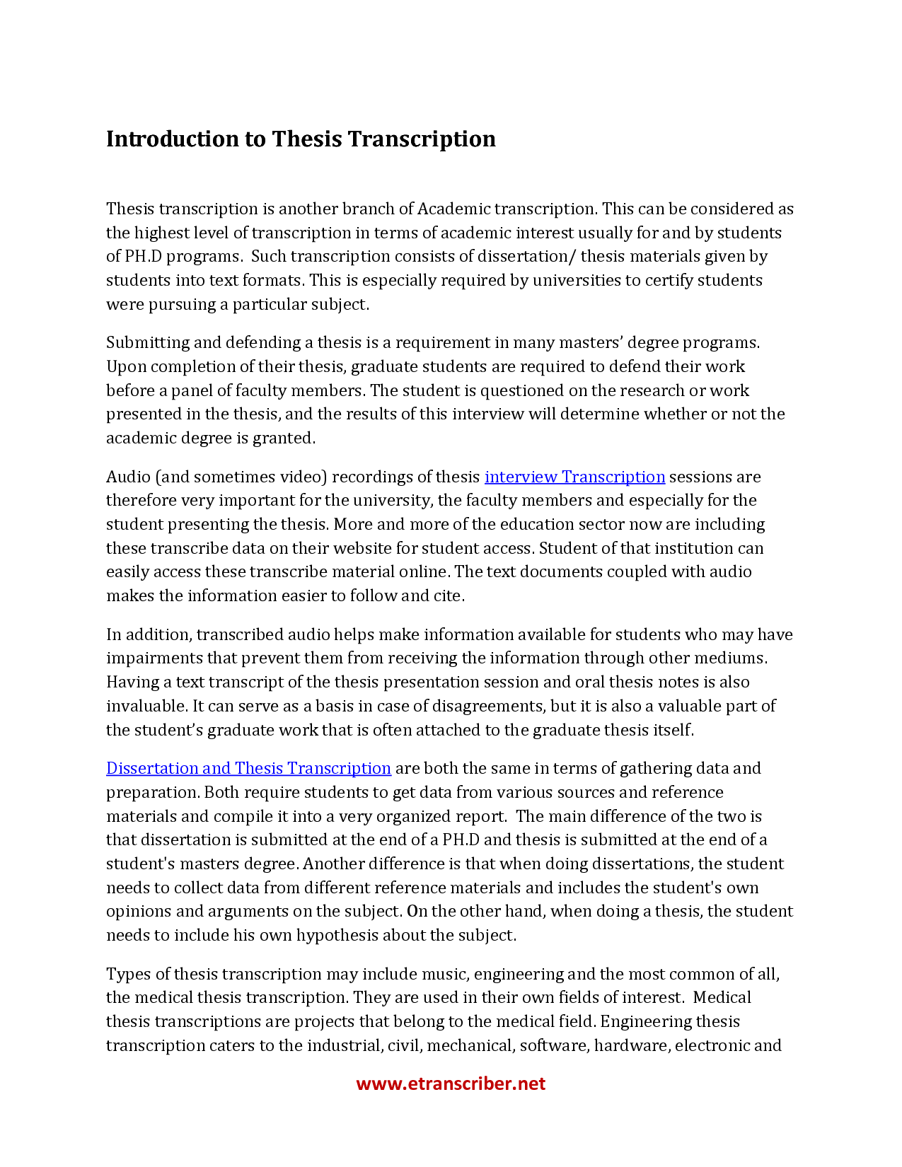 best thesis introductions This handout describes what a thesis statement is, how thesis statements work in your writing, and how you can discover or refine one for your draft introduction.
