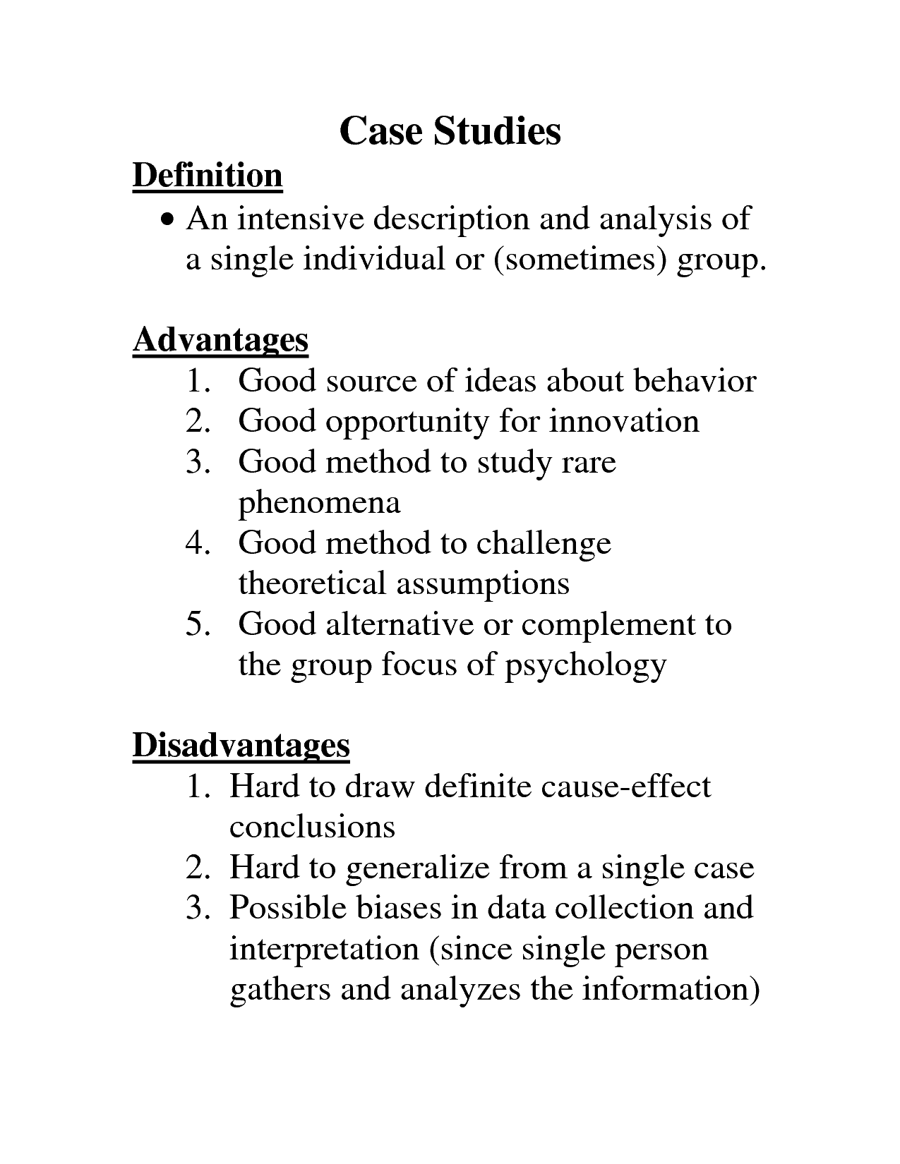 definition of case study Psychology definition for case study in normal everyday language, edited by psychologists, professors and leading students help us get better.
