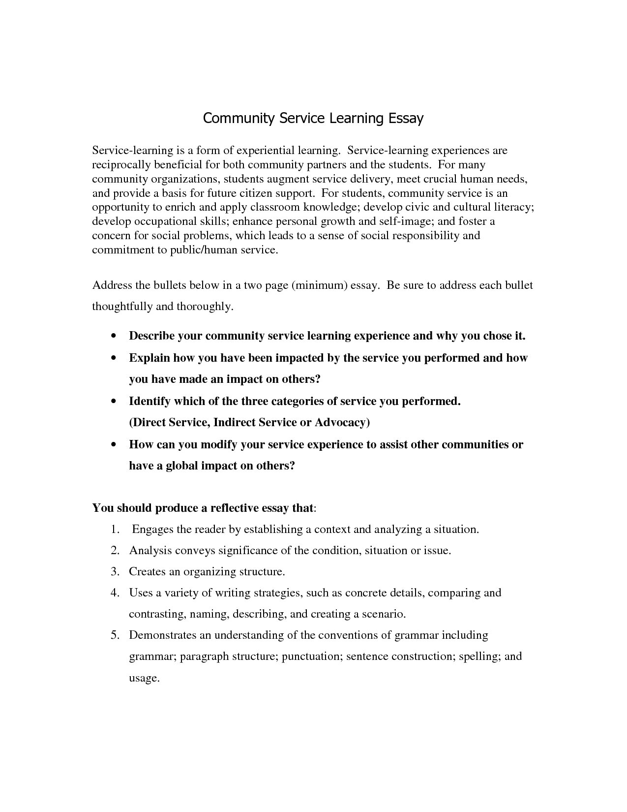 Essay About Community