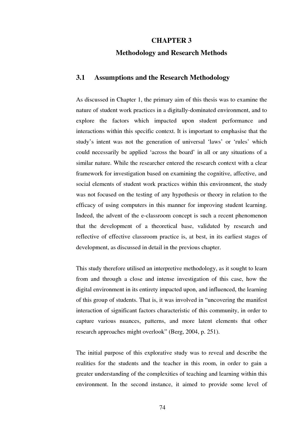 Phd thesis research methods