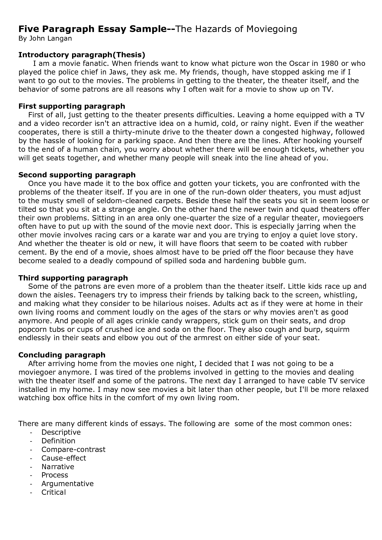 ending a 5 paragraph essay Developing a five paragraph essay developed by elizabeth hanson for lamc writing lab with material from ap write a five paragraph dealing with hurricanes.