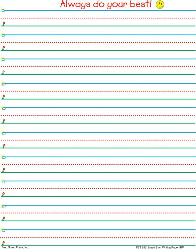 lined paper elementary school printable