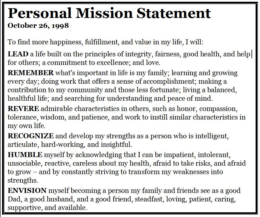 good personal statement quotes